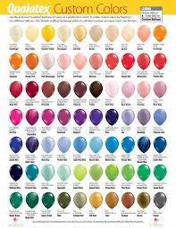 Balloon Color Chart Balloon Color Chart