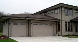 home with two car garage and one car garage residential garage doors