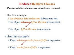 You might reduce the clause to make your writing more concise or to add sentence variety. Lesson 12 Dec 1 Relative Clauses 2 Relative Clauses Recall Relative Clause Which Follows The Subject Noun Of The Main Clause An Object Which Ppt Download