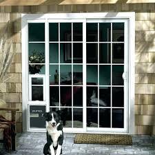 full door with doggie door screen door with door dog proof