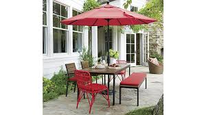 outdoor furniture crate and barrel. Kruger Ribbon Red Dining Chair With Sunbrella ® Cushion Outdoor Furniture Crate And Barrel O