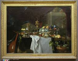 visitor trails still life painting in northern europe louvre museum paris