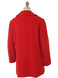 80s vintage red macintosh pea coat