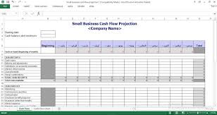How To Do A Cash Flow Projection Small Business Cash Flow Projection Templates For Excel