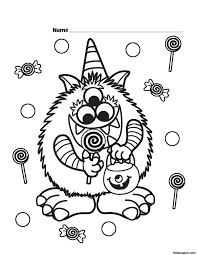 Small Picture Halloween Coloring Page Preschool olegandreevme