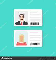 Personal i ua Text Identity Data Flat Background Identification Stock Info Clipart On © Sergii19 And Photo Vector — Design Document With Card 211607278 Illustration Person