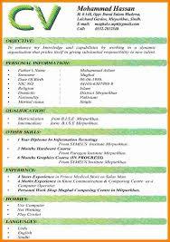 Curriculum Vitae Formats Custom 28 Latest Curriculum Vitae Format