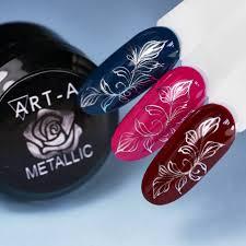 Гель-<b>краска для дизайна ногтей</b> металлик серебро Art-A купить в ...