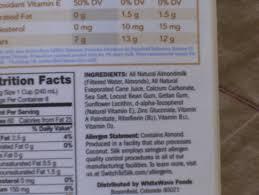 seven gigantic influences of silk almond milk nutrition label silk almond milk nutrition label