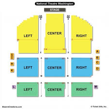 The Amazing National Theater Seating Chart Seating Chart