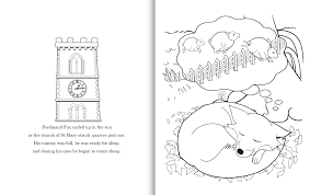 interior pages from ferdinand fox s big sleep colouring book