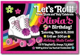 Roller Skate Birthday Party Invitations Rollerskate Party Birthday