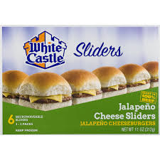 White Castle Sliders Jalapeno Cheeseburgers 11 Oz From