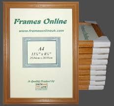 ten a4 antique pine certificate frames