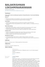 resume content sample