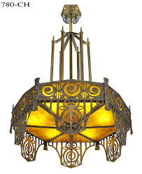 this is our edgar brandt imspired art deco chandelier extrapilated from the ideas edgar brant put into use when he first began creating chandeliers that