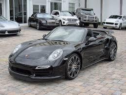 2014 porsche 911 turbo black. photo 1 2014 porsche 911 turbo in miami fl exterior view from front driveru0027s black