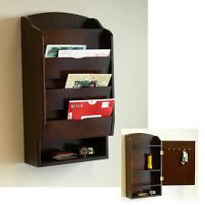 Smart Storage As Wells As Mail Organizer With Shelf In Storage Wall Mounted  Wood Mail Organizer