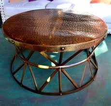hammered copper bowl coffee table
