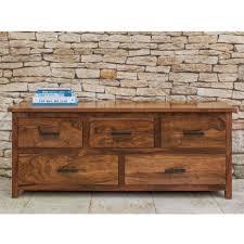Sheesham Bedroom Furniture Low Rise Chest Of Drawer Sheesham Wood Furniture Online Royal