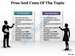 pros and cons powerpoint template slide powerpoint presentation pros and cons of the topic editable