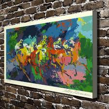 a1822 leroy neiman abstract riding horse knight hd canvas print home decoration living room wall