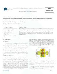 pdf control design for axial flux permanent magnet synchronous motor which operates above the nominal sd