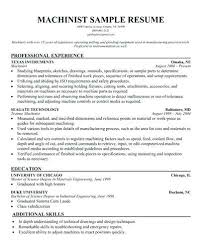 Machinist Resume Template Beauteous Resume For Machinist Machinist Resume Indeed Cover Letter