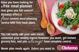 Disheroo Free Custom Online Meal Planner