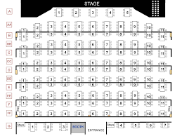 Az Broadway Theater Seating Chart Seating Chart Silver Star Theater