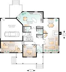 home office plans. Home Office With Separate Entrance - 21634DR Floor Plan Main Level Plans