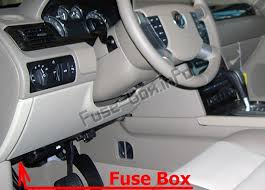 the location of the fuses in the passenger compartment: mercury montego  (2005-2007