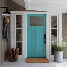 shaker front doorTurquoise Front Door  Cottage  Home Exterior