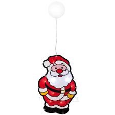 Led Fensterbild Weihnachtsmann Bunt Glitzer Fensterdeko Beleuchtet 265x18 Cm Matches21