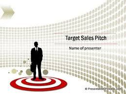 Red Target Sales Pitch Template