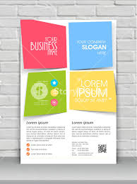 one page flyer template colorful creative one page flyer banner or template design for your