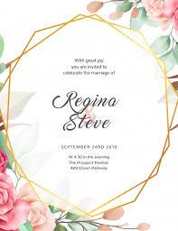 Wedding Invitation Template Flower Wedding Invitation Template Postermywall