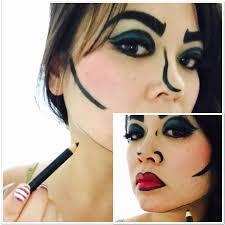 ic book character makeup jawline