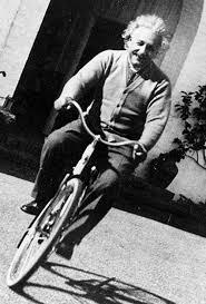 Albert Eisenstein on a Bicycle | Einstein, Bicycle, Albert einstein