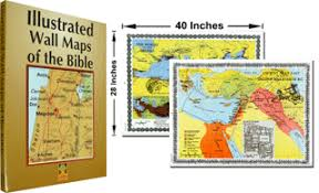 Illustrated Wall Maps Of The Bible Pack Carta 41893