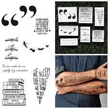Good Tattoo Quotes Mesmerizing Books Quotes Temporary Tattoo Pack Set Of 48 WantItAll