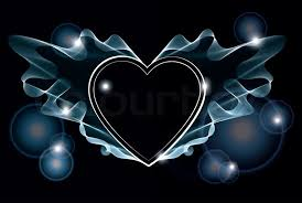 black heart background. Contemporary Heart Background With Bright Abstract Heart Over Dark  Stock Photo Colourbox Inside Black Heart A
