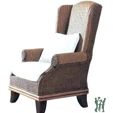 wicker wingback chair wicker wing chair plantation rattan wing chair with cushions vintage wicker chair indoor wicker wingback chair
