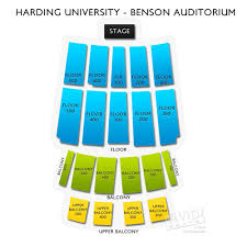 Benson Auditorium Seating Chart University Address Harding University Address