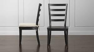 dining room chair back cushions. Harper Black Ladder Back Wood Dining Chair And Sand Cushion | Crate Barrel Room Cushions A