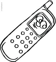 Phone Coloring Page Cell Phone Coloring Pages Plant Page Colouring