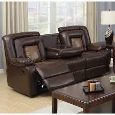 stunning bonded leather reclining sofa gapson brown bonded leather drop down table reclining sofa 2o9tfue6