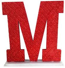 Decoration Letter M Red