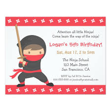 kids birthday party invitations way of the ninja kids birthday party invitations