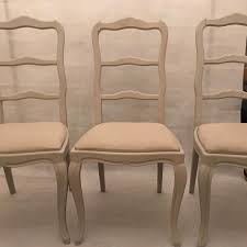 french dining chairs. SOLD French Dining Chairs - A Set Of 6 Recovered Linen Seats Mid C20 N
